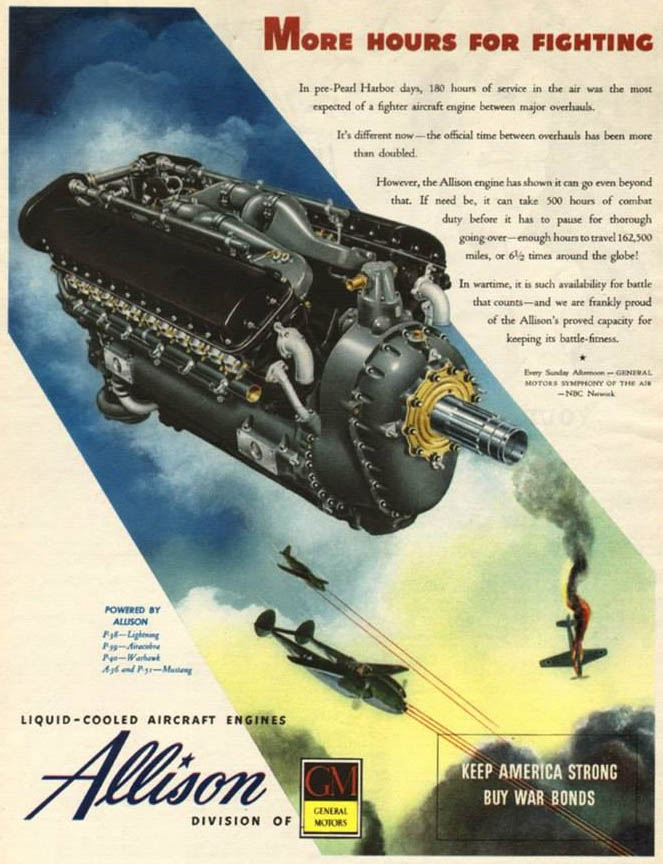 Advertisement for Allison aircraft engines
